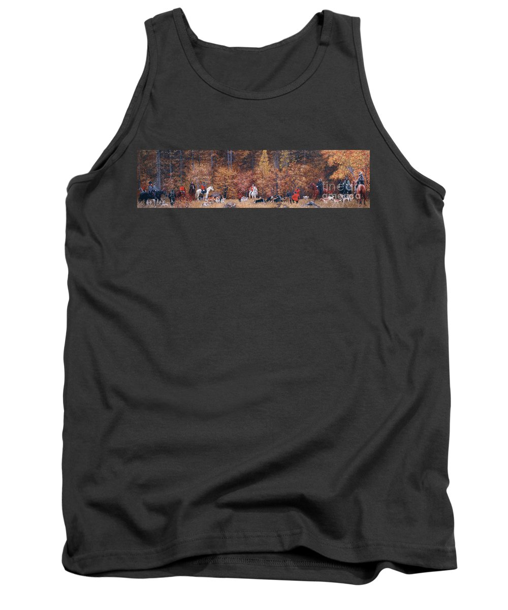 Russian Tank Top featuring the painting Russian Hunting by Simon Kozhin