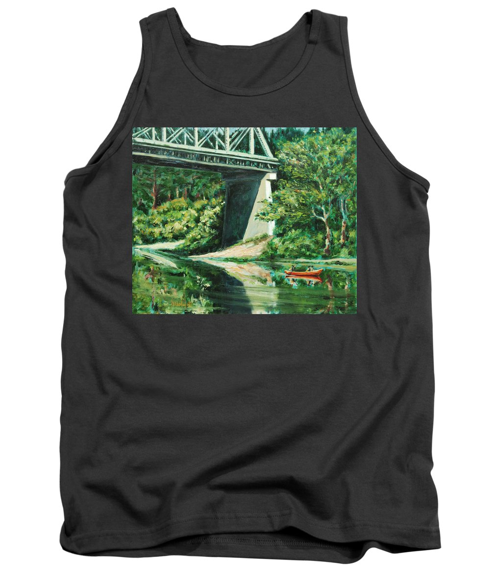 River Tank Top featuring the painting Russian River by Rick Nederlof