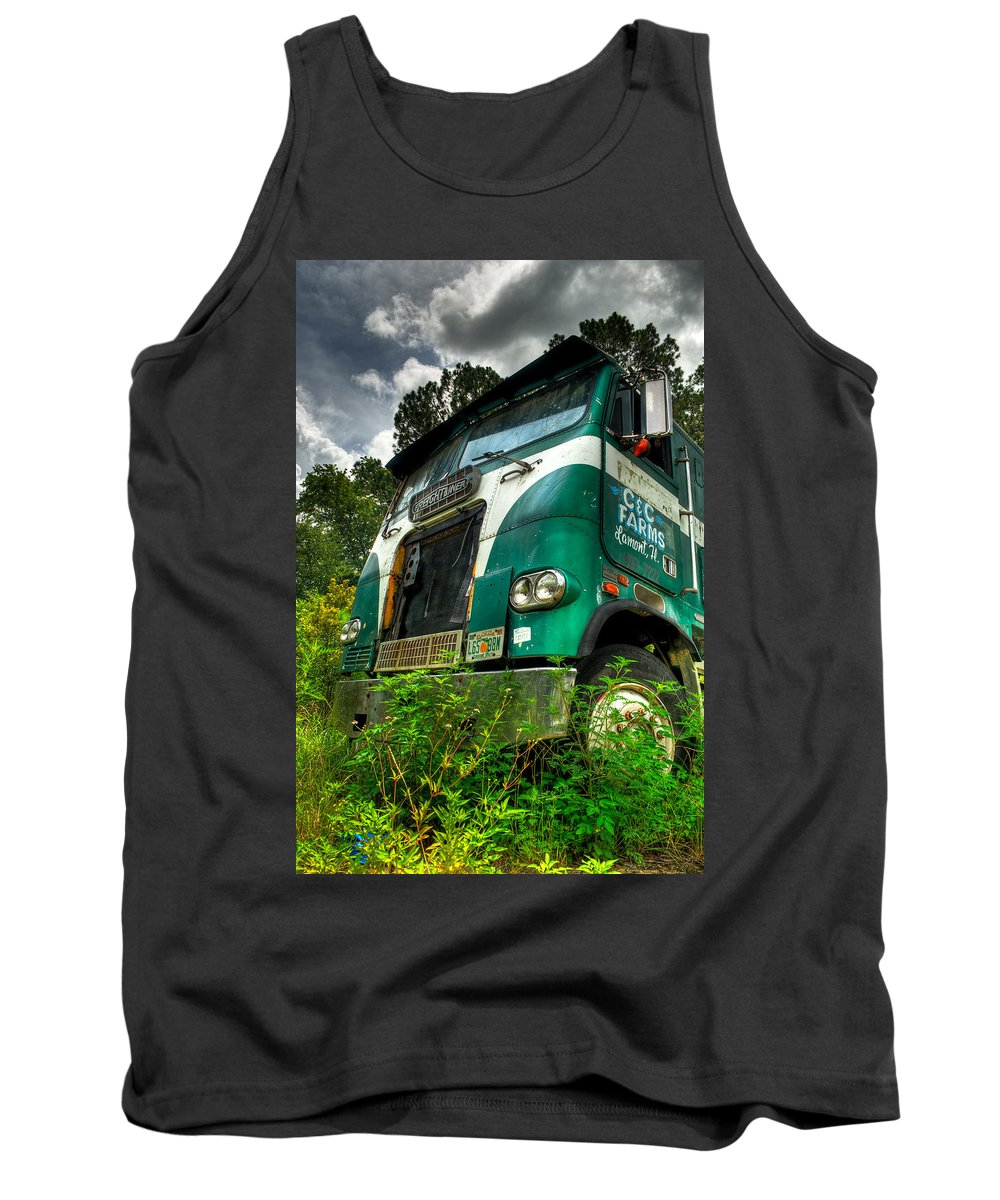 Truck Tank Top featuring the photograph Rusted And Busted by Rich Leighton