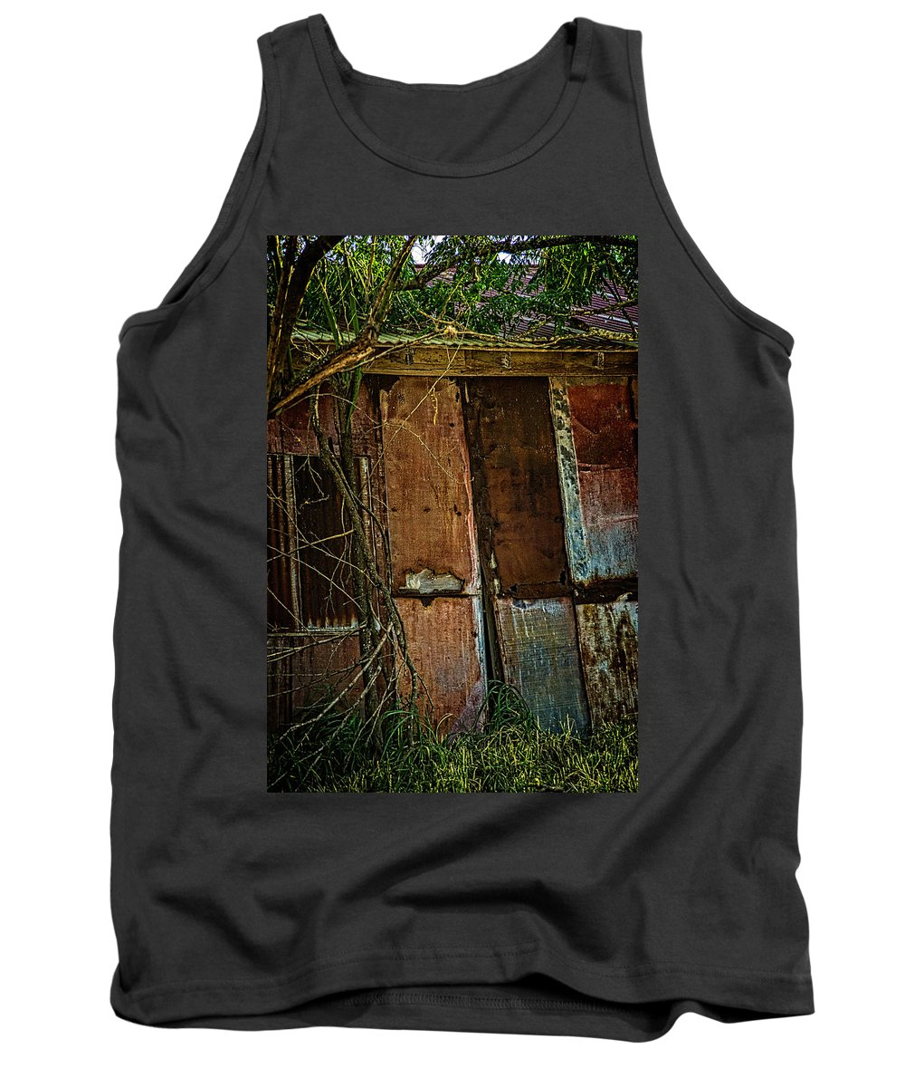 One Tree Photos Tank Top featuring the photograph Rusting Away by Marshall Barth