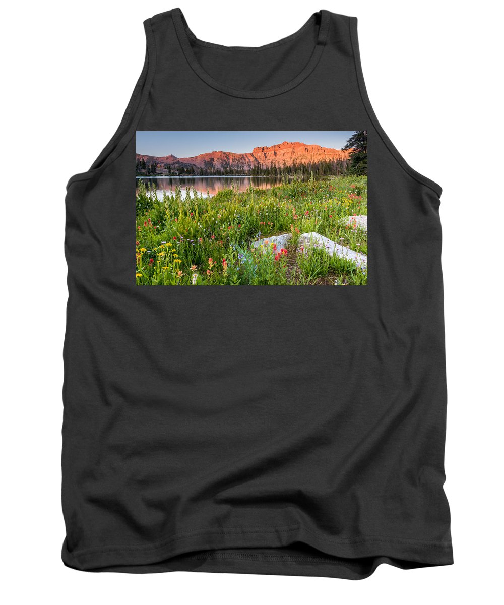 Trailsxposed Tank Top featuring the photograph Ruth Lake Wild Flowers by Gina Herbert