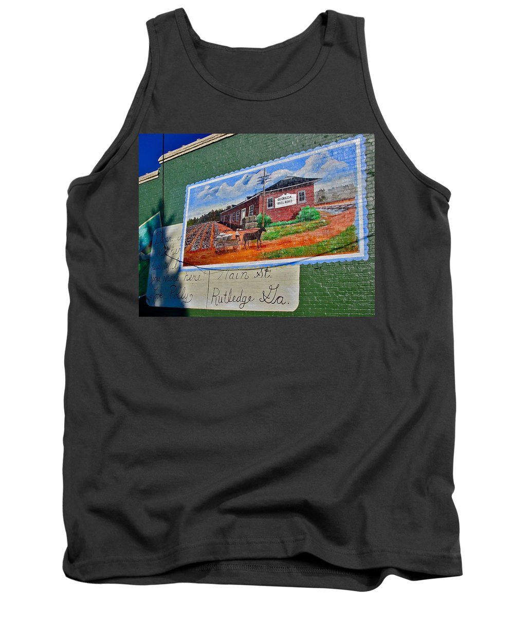 Rutledge Tank Top featuring the photograph Rutledge Georgia by Denise Mazzocco