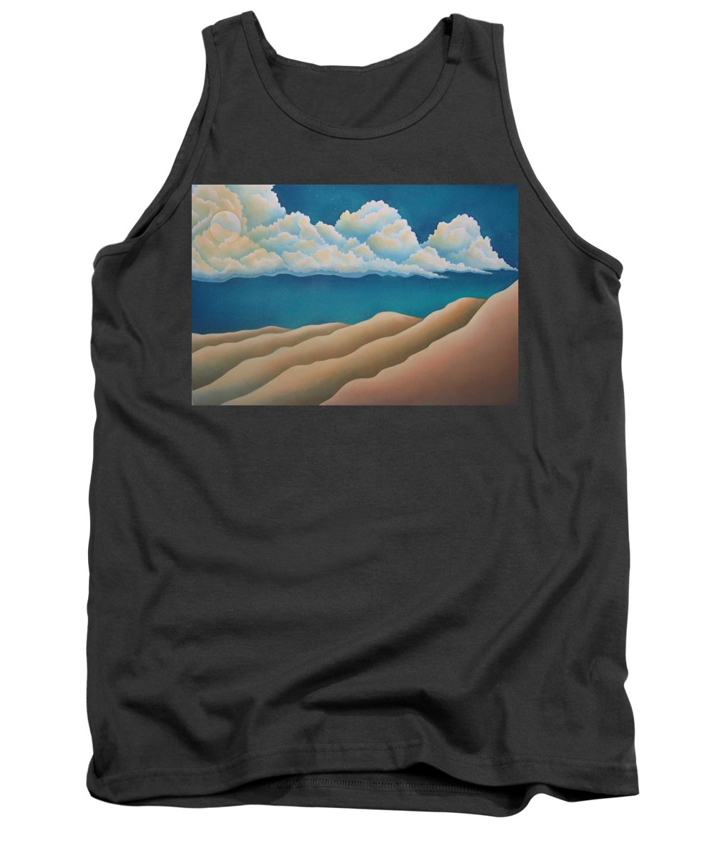 Landscape Tank Top featuring the painting Sacred Night by Jeniffer Stapher-Thomas
