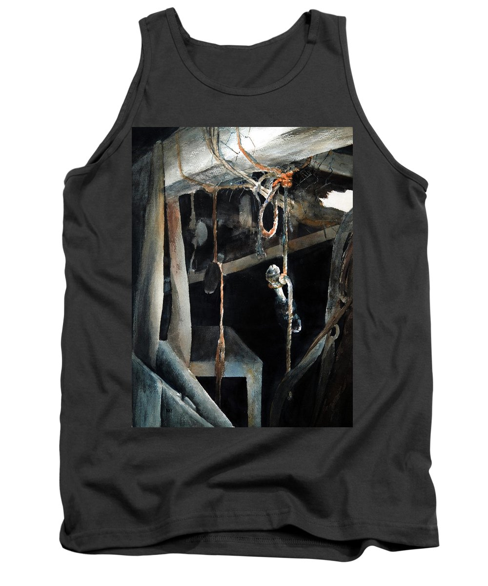 Abstract Tank Top featuring the painting Sacrifice by Rachel Christine Nowicki
