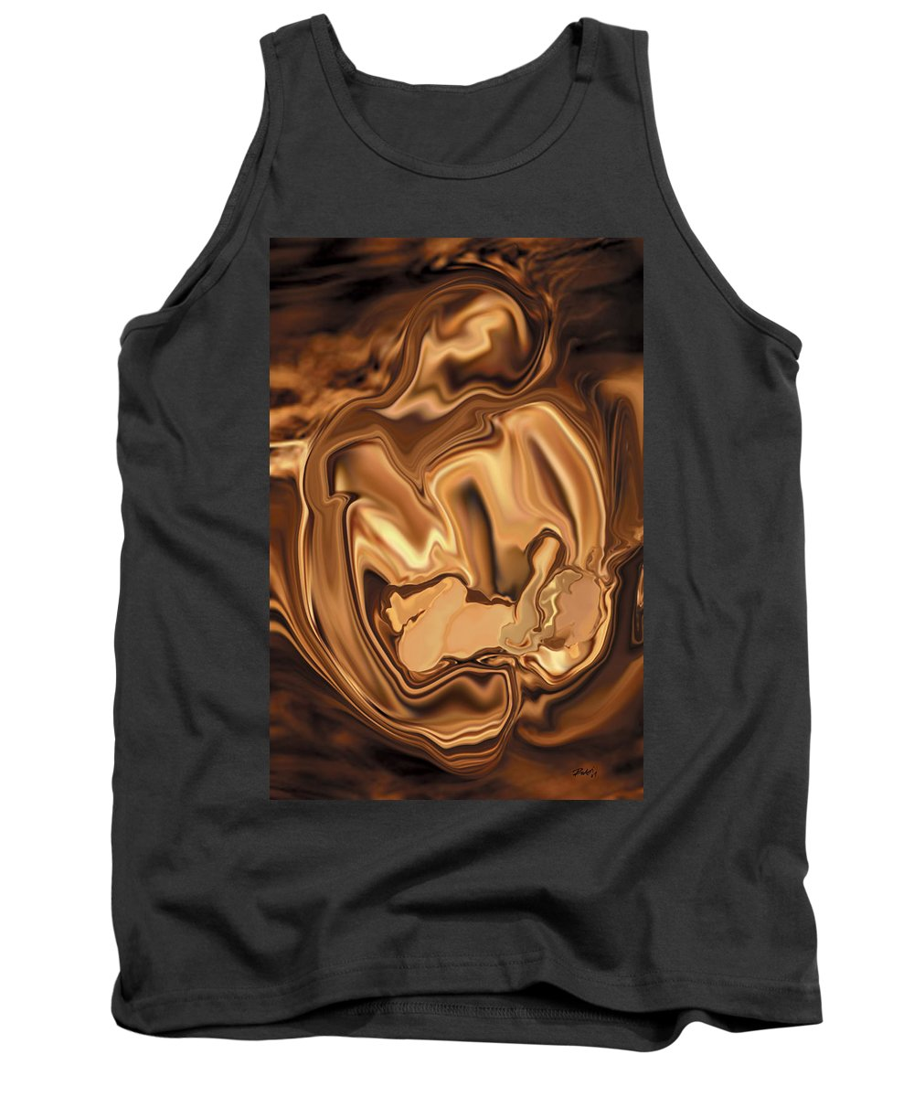 Abstract Tank Top featuring the digital art Safe-in-her-arms by Rabi Khan