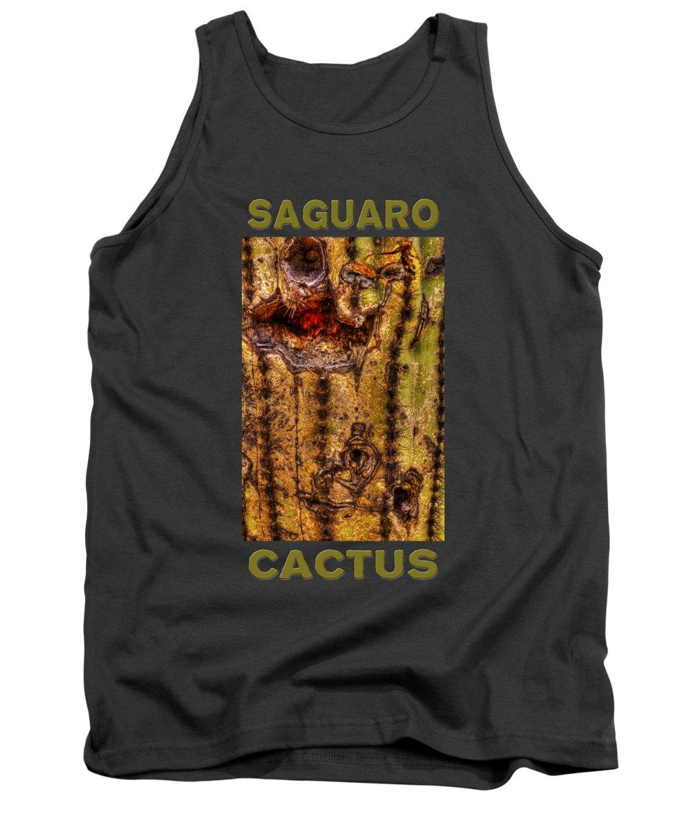 Saguaro Tank Top featuring the photograph Saguaro Detail No. 18 by Roger Passman