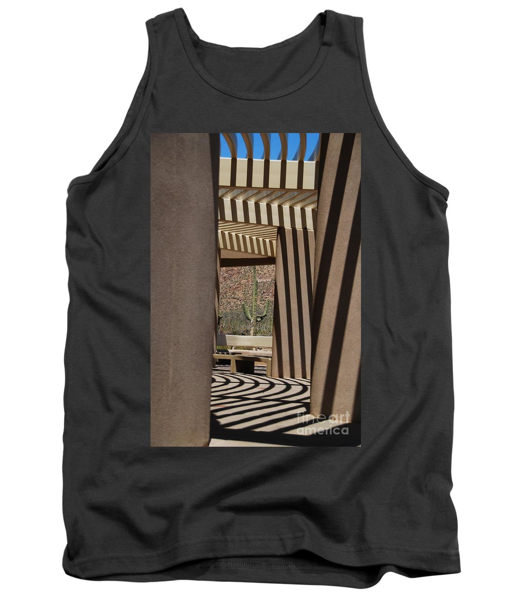 Architecture Tank Top featuring the photograph Saguaro National Park by Lois Bryan