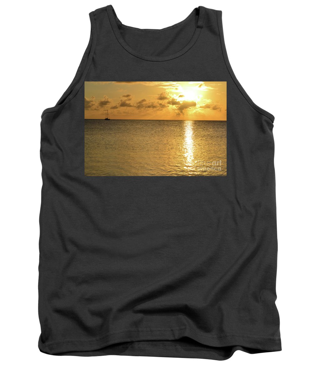 Florida Tank Top featuring the photograph Sailboat On The Horizon 3 by Kylee S