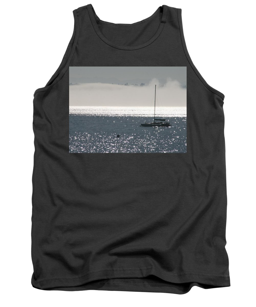 Sailboat Tank Top featuring the photograph Sailboat Silhouette by Glenn Wachtman