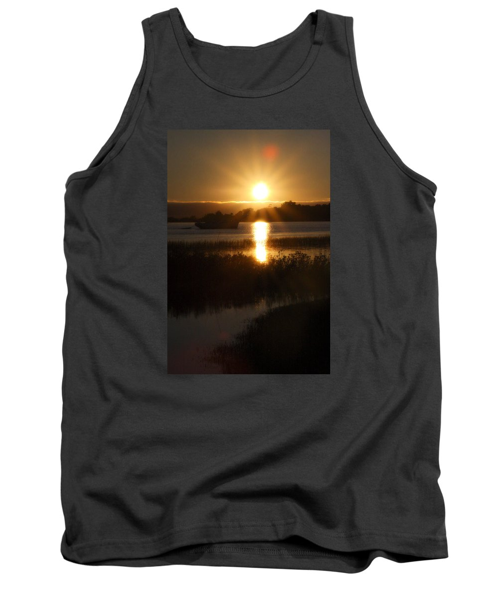 Sunset Tank Top featuring the photograph Sailboat Sunset by CottonWood