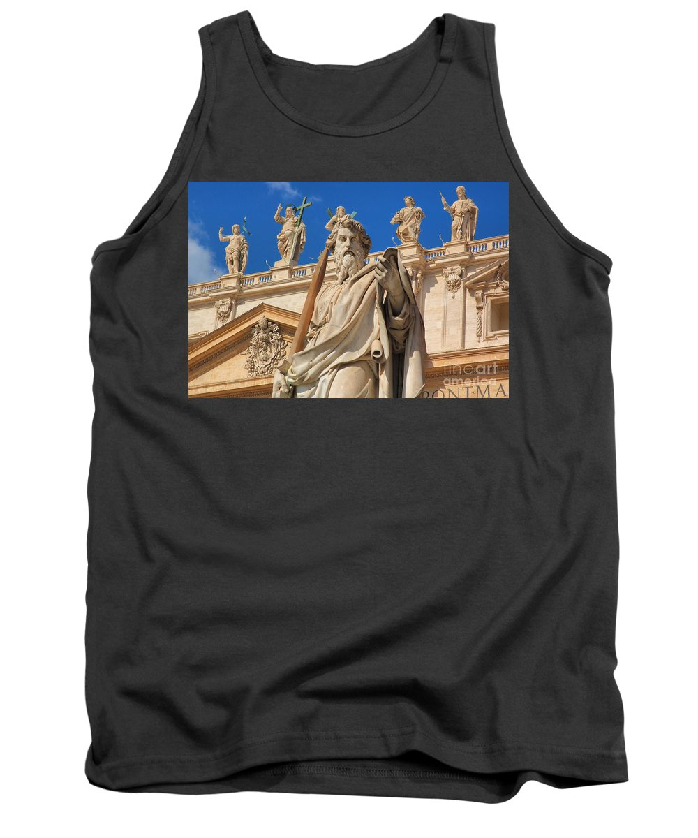 Vatican City Tank Top featuring the photograph Saints by Joe Ng