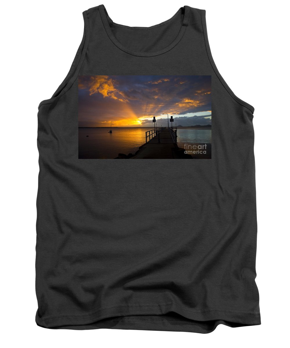 Sunrise Tank Top featuring the photograph Salamander Bay sunrise by Sheila Smart Fine Art Photography