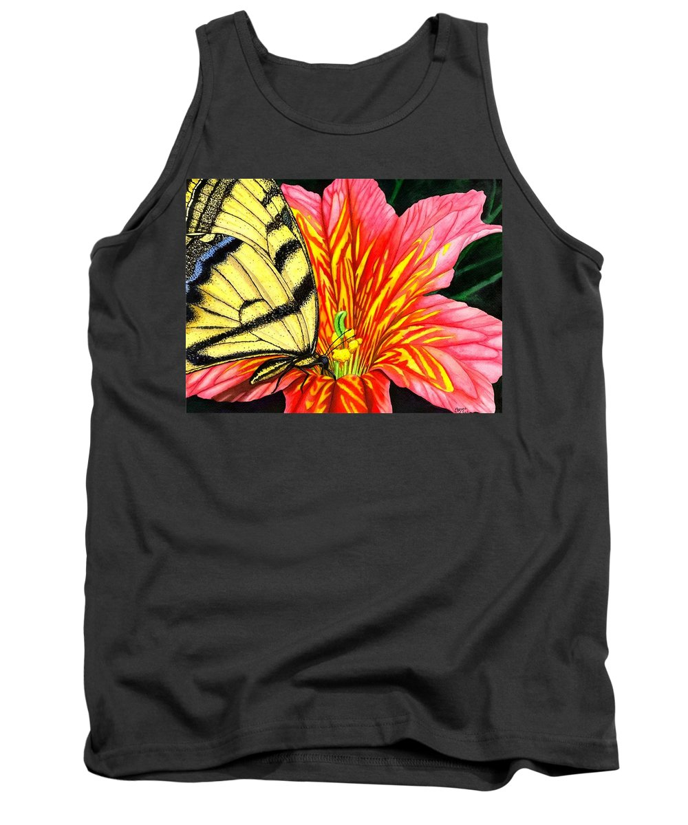Salpiglossis Tank Top featuring the painting Salpliglossis by Catherine G McElroy