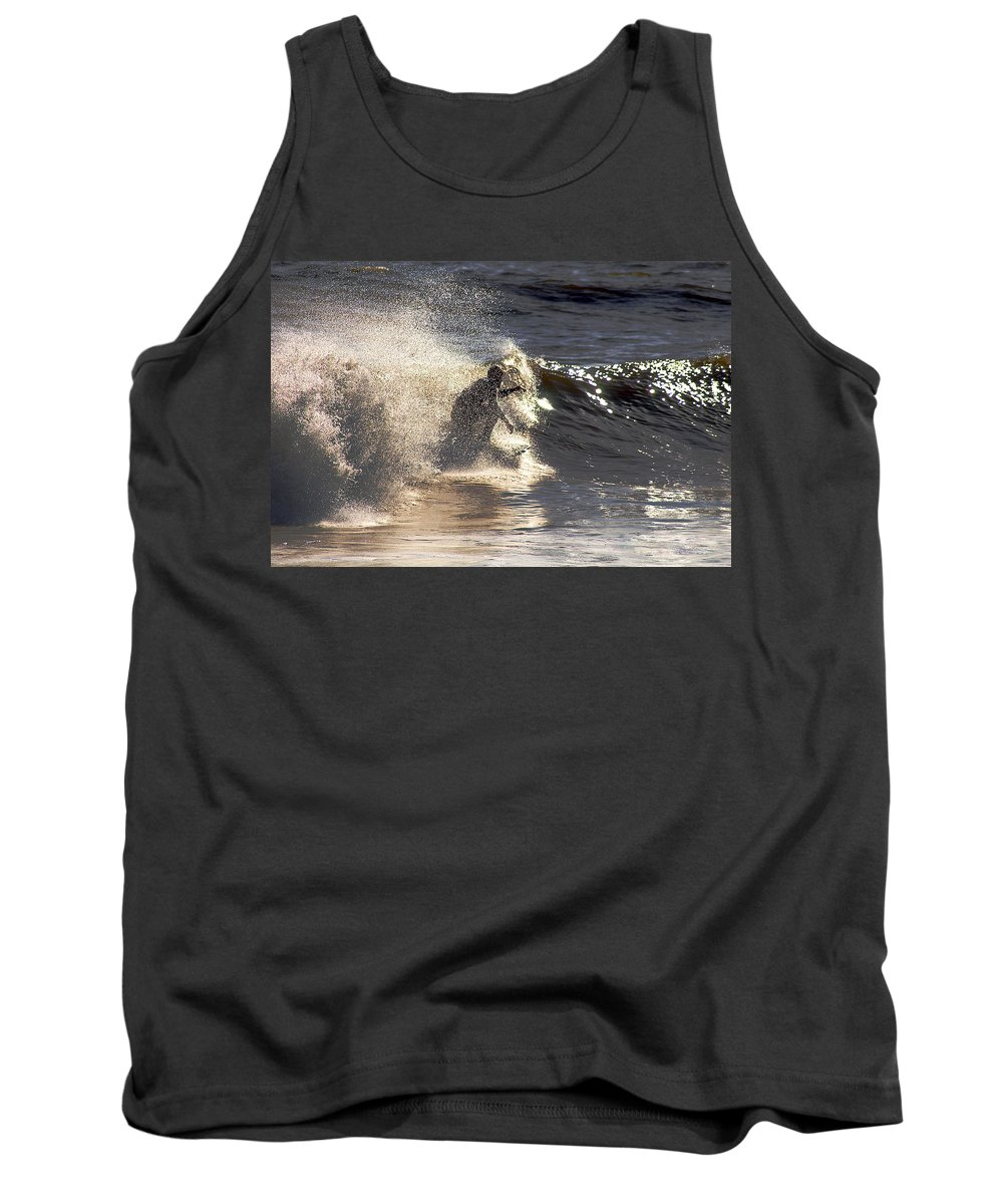 Clay Tank Top featuring the photograph Salt Spray Surfing by Clayton Bruster