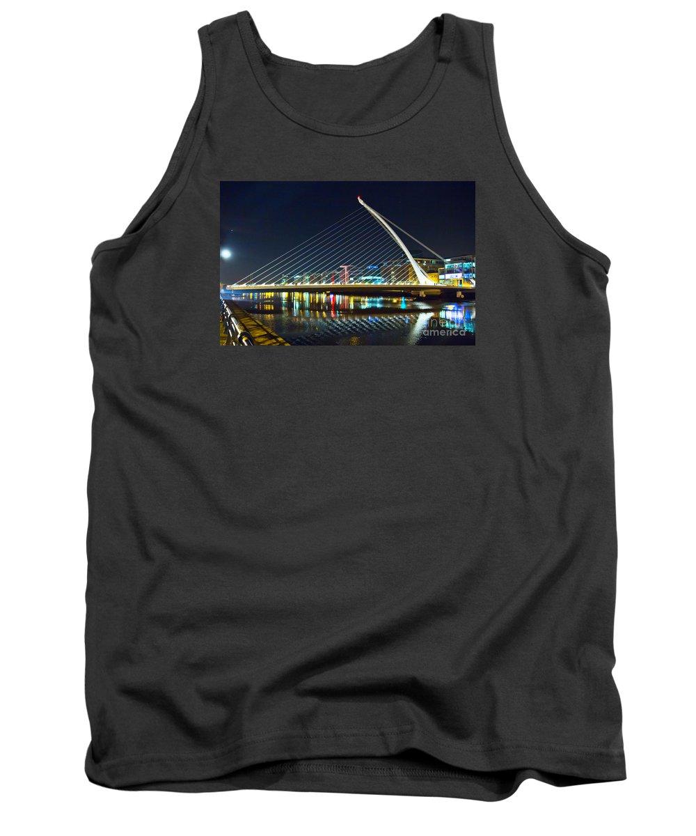 Samuel Beckett Bridge Tank Top featuring the photograph Samuel Beckett Bridge 4 by Alex Art and Photo