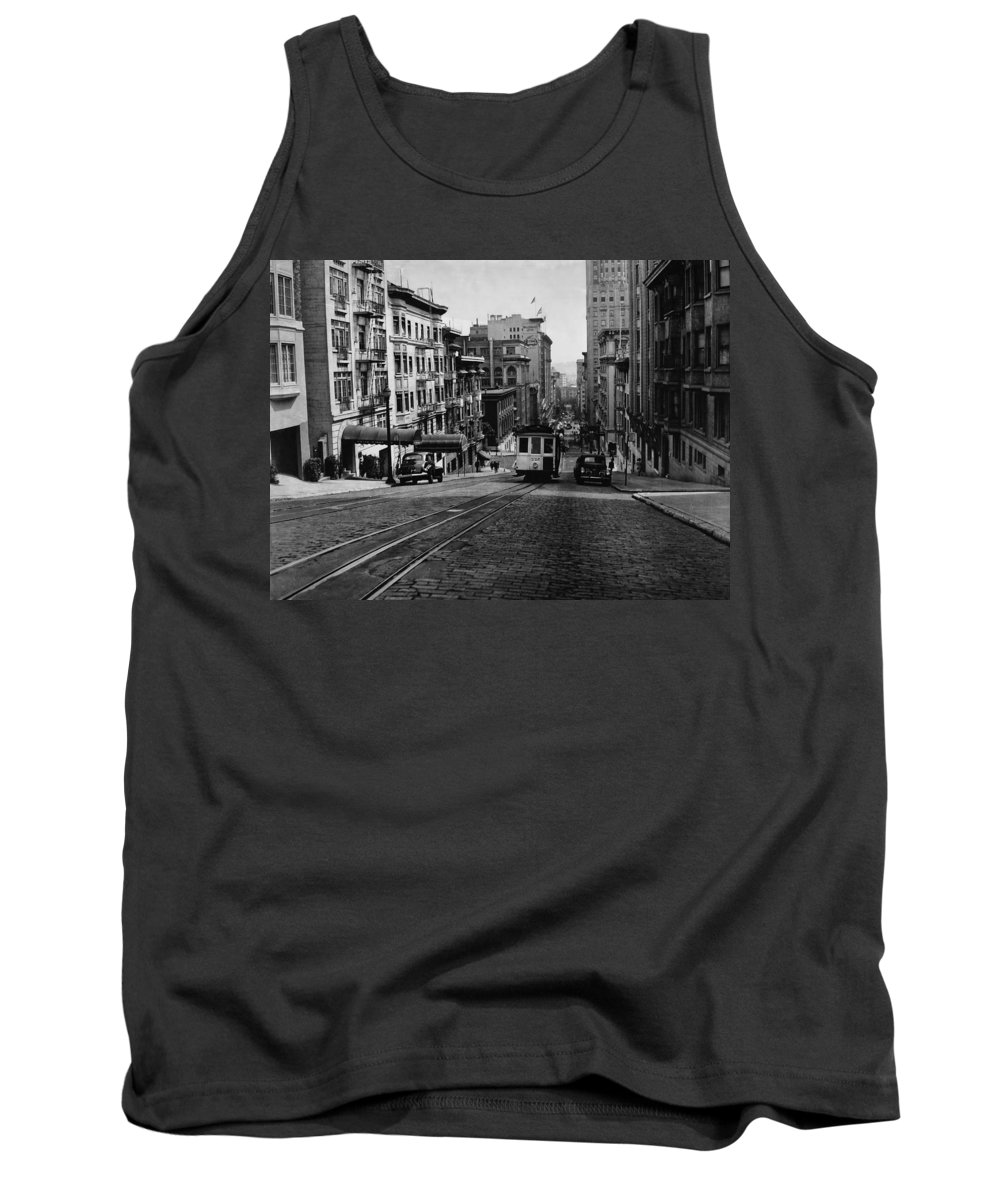 Cityscape Tank Top featuring the photograph San Francisco 1945 by Mountain Dreams
