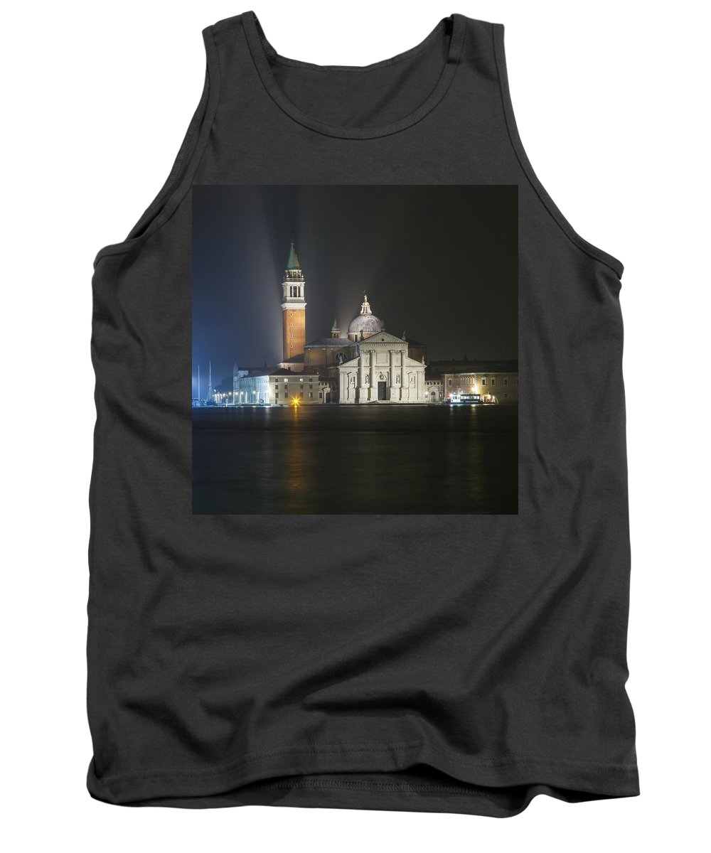 Italy Tank Top featuring the photograph San Giorgio Maggiore By Night by Chris Beard
