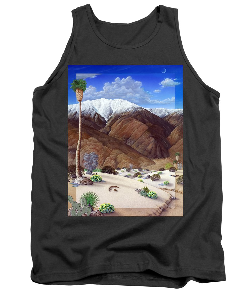 Desert Tank Top featuring the painting Snow Creek by Snake Jagger
