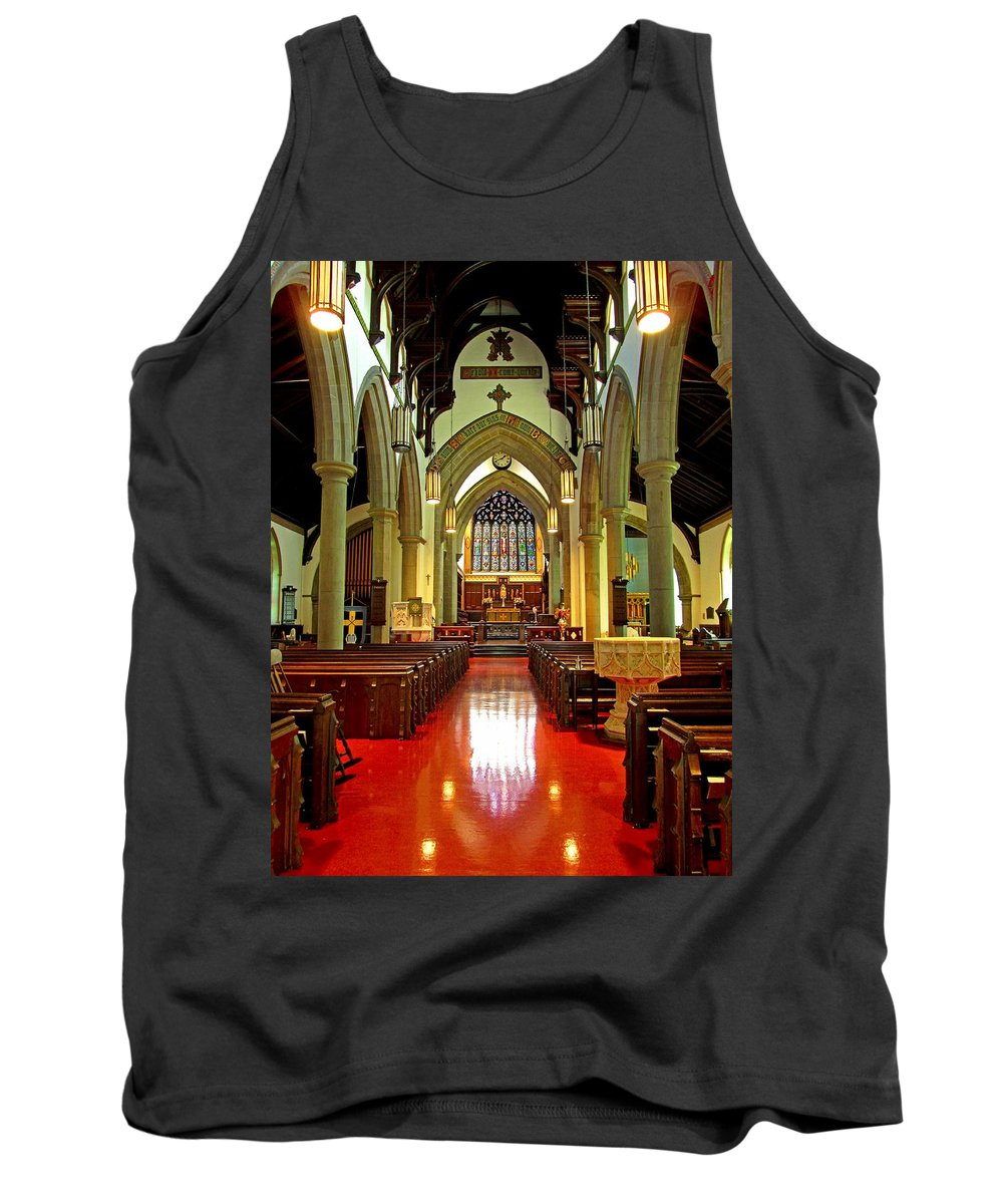 Christ Church Cathedral Fredericton Tank Top featuring the photograph Sanctuary Christ Church Cathedral 2 by Mark Sellers