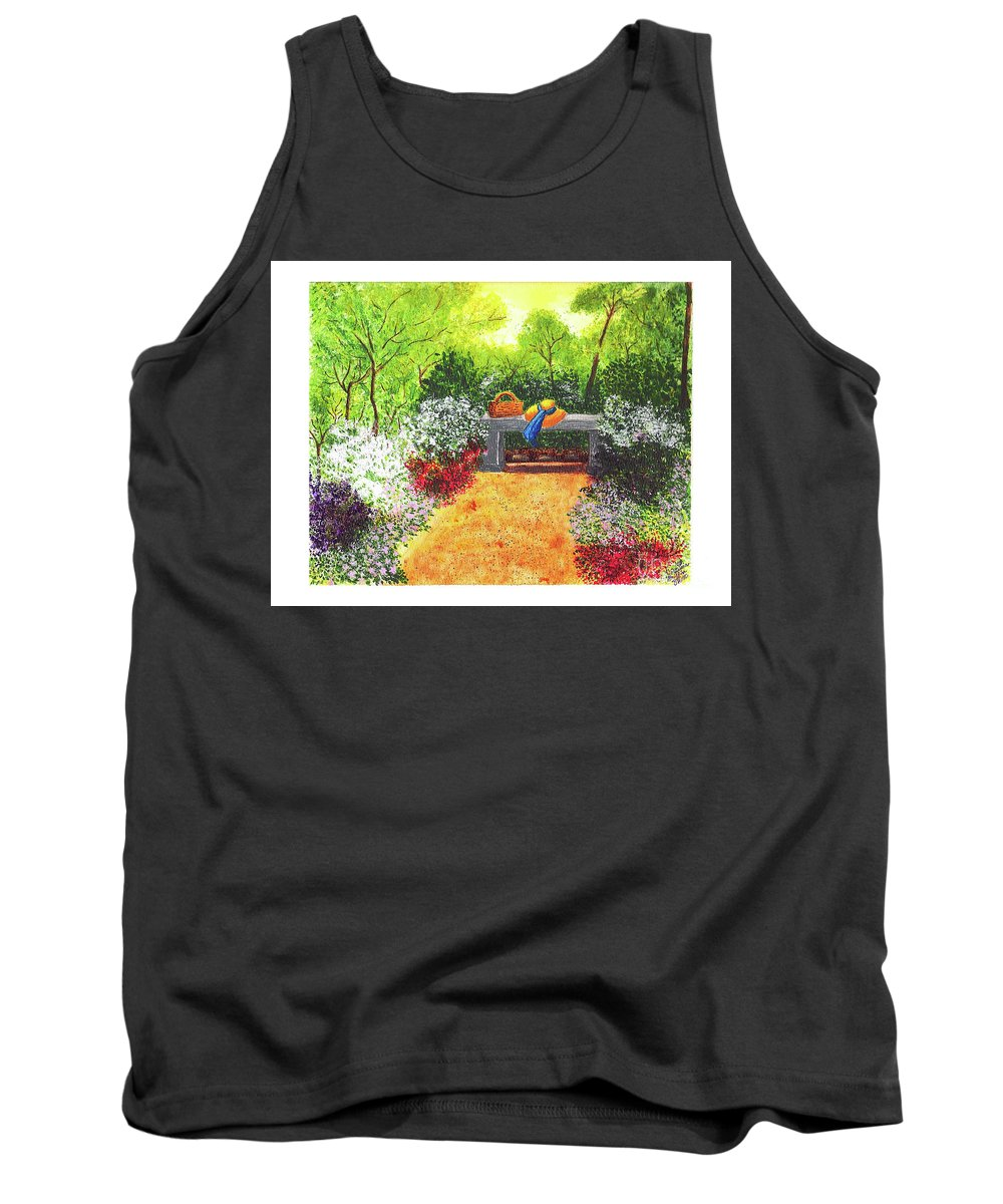 Garden Painting Tank Top featuring the painting Sanctuary by Patricia Griffin Brett