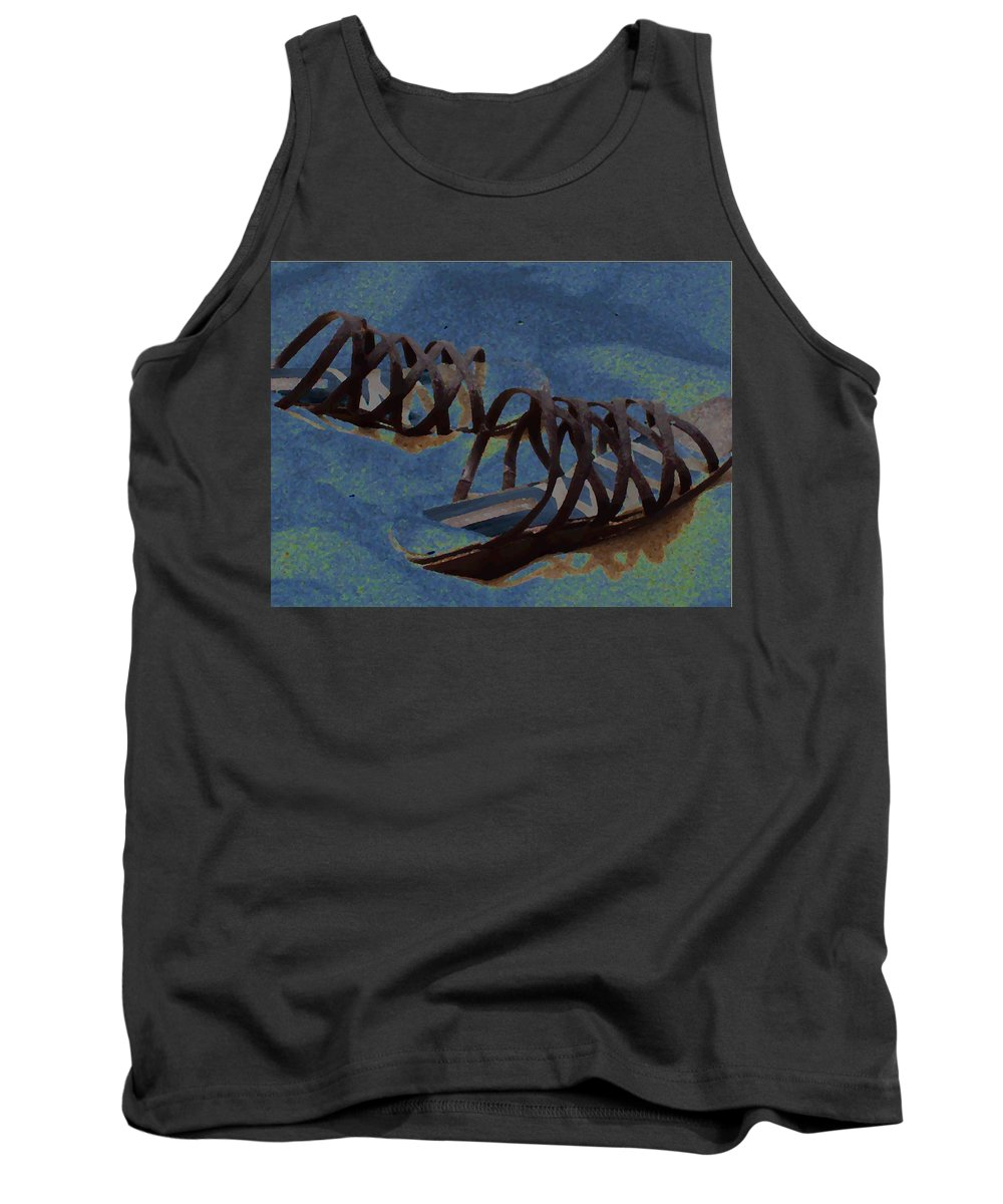 Shoes Tank Top featuring the photograph Sand Shoes II by Deborah Crew-Johnson