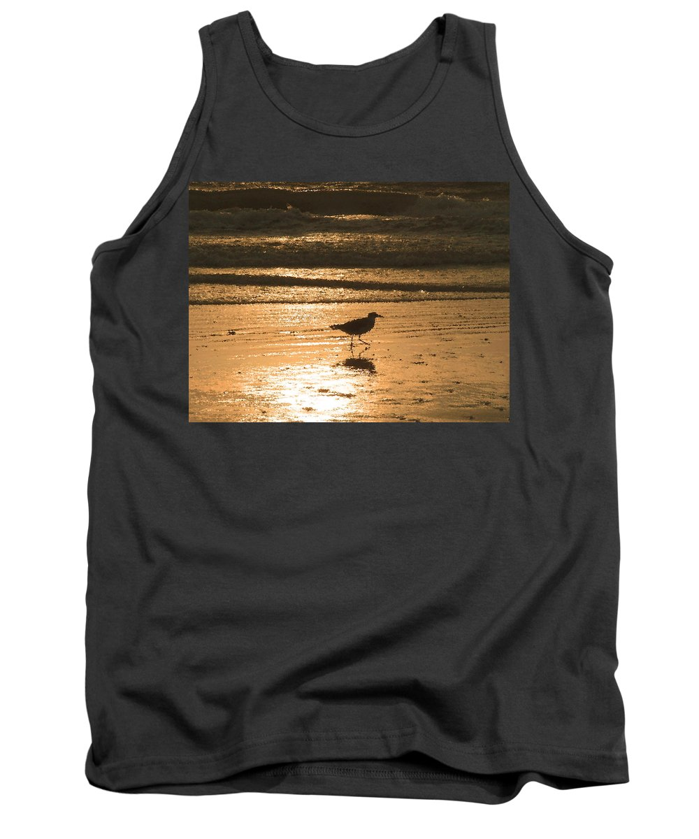 Nature Tank Top featuring the photograph Sandpiper by Peggy Urban