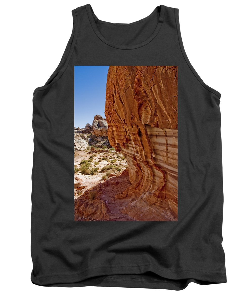 Sandstone Texture Tank Top featuring the photograph Sandstone Texture by Chris Brannen