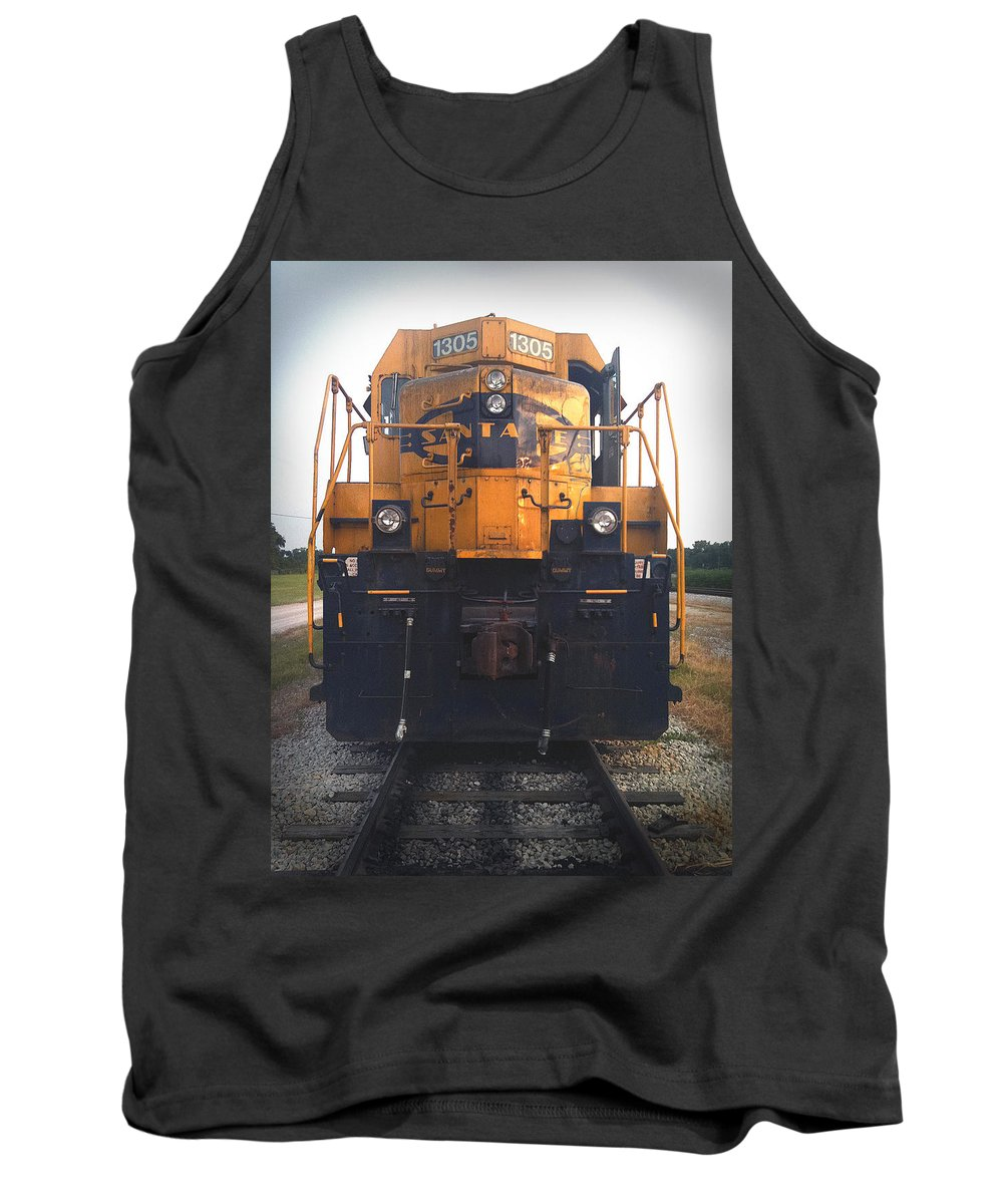 Train Tank Top featuring the photograph Santa Fe - 1305 by D'Arcy Evans