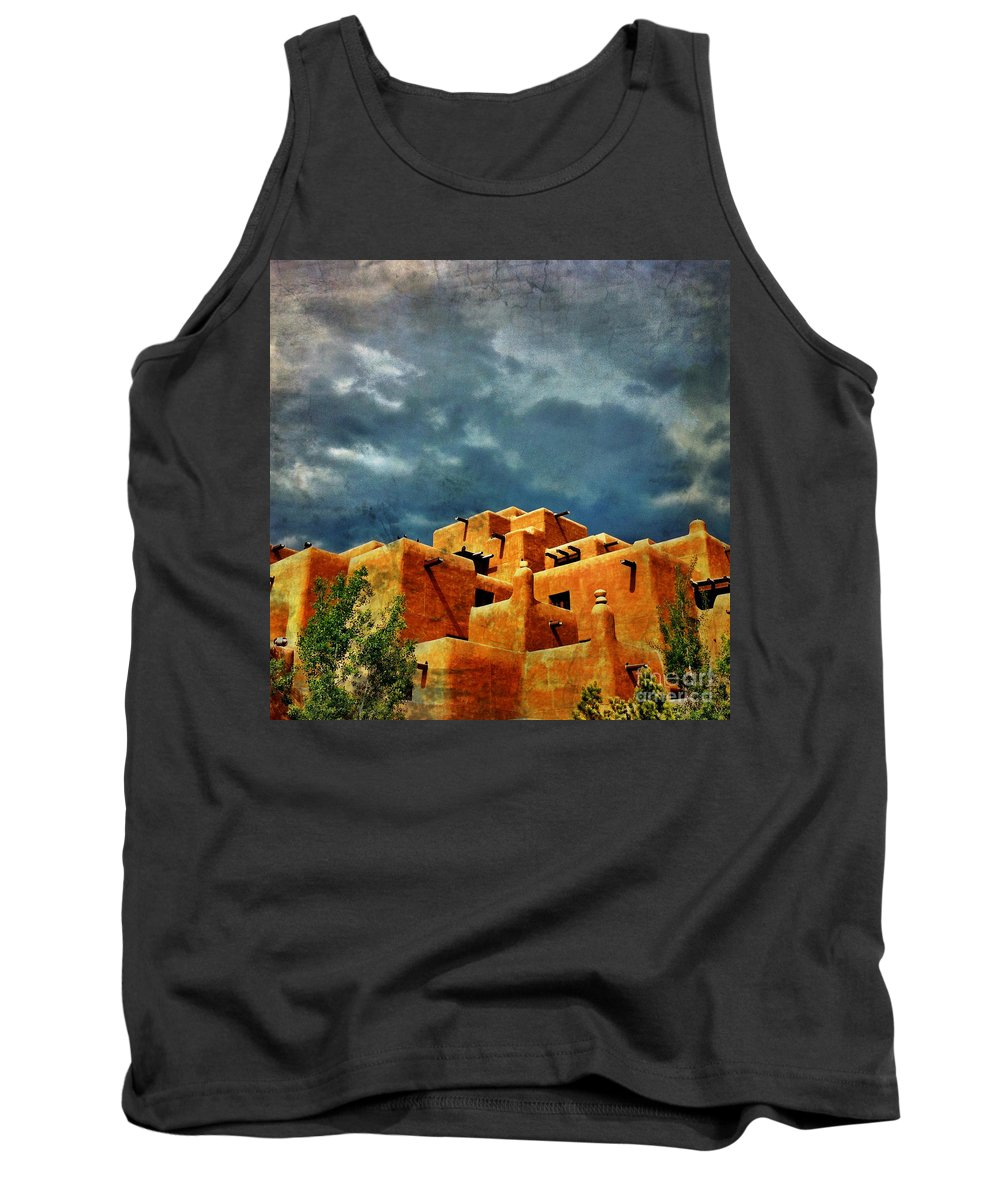 Iphoneography Tank Top featuring the photograph Santa Fe Adobe by Matt Suess