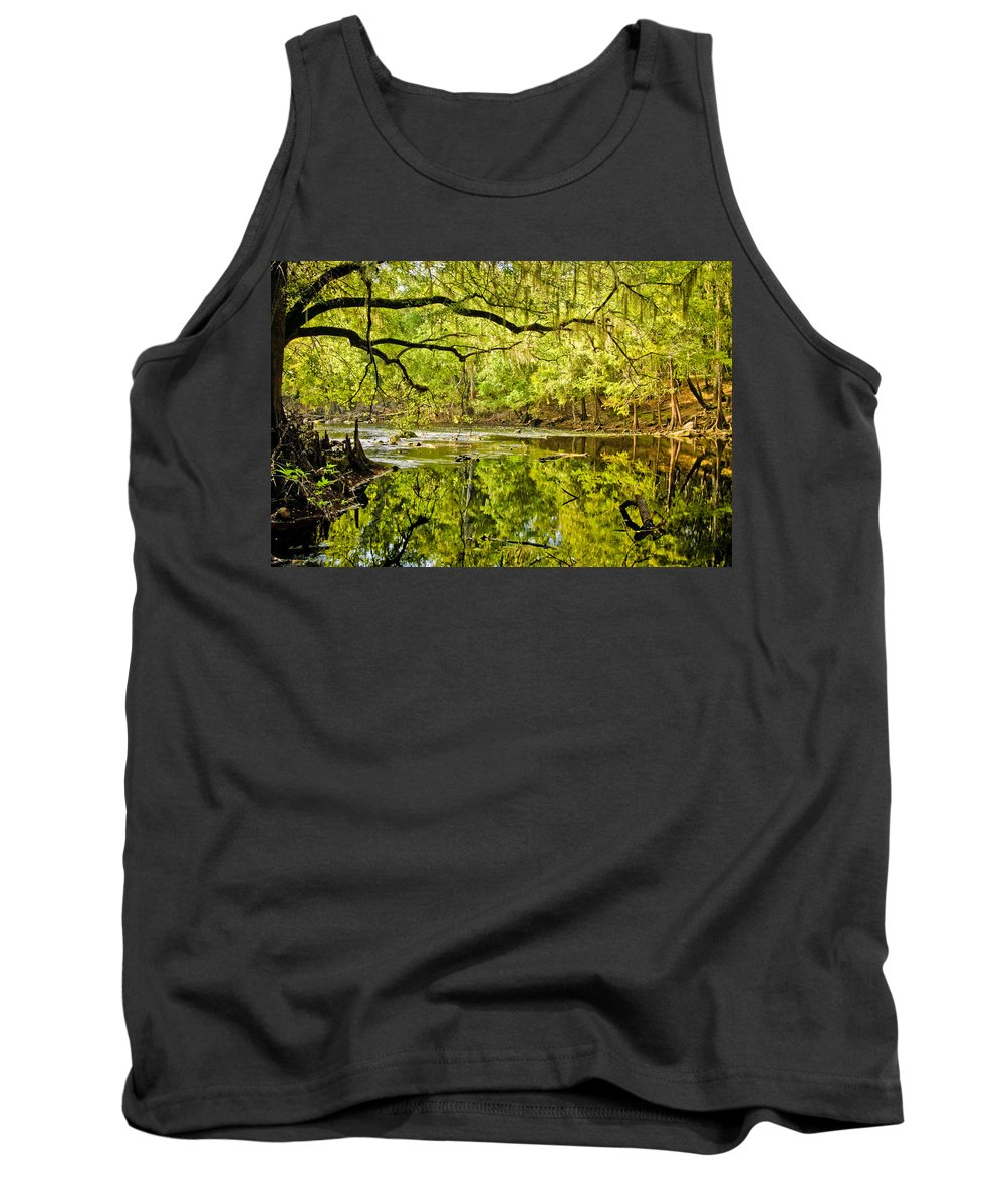River Tank Top featuring the photograph Santa Fe River by Rich Leighton