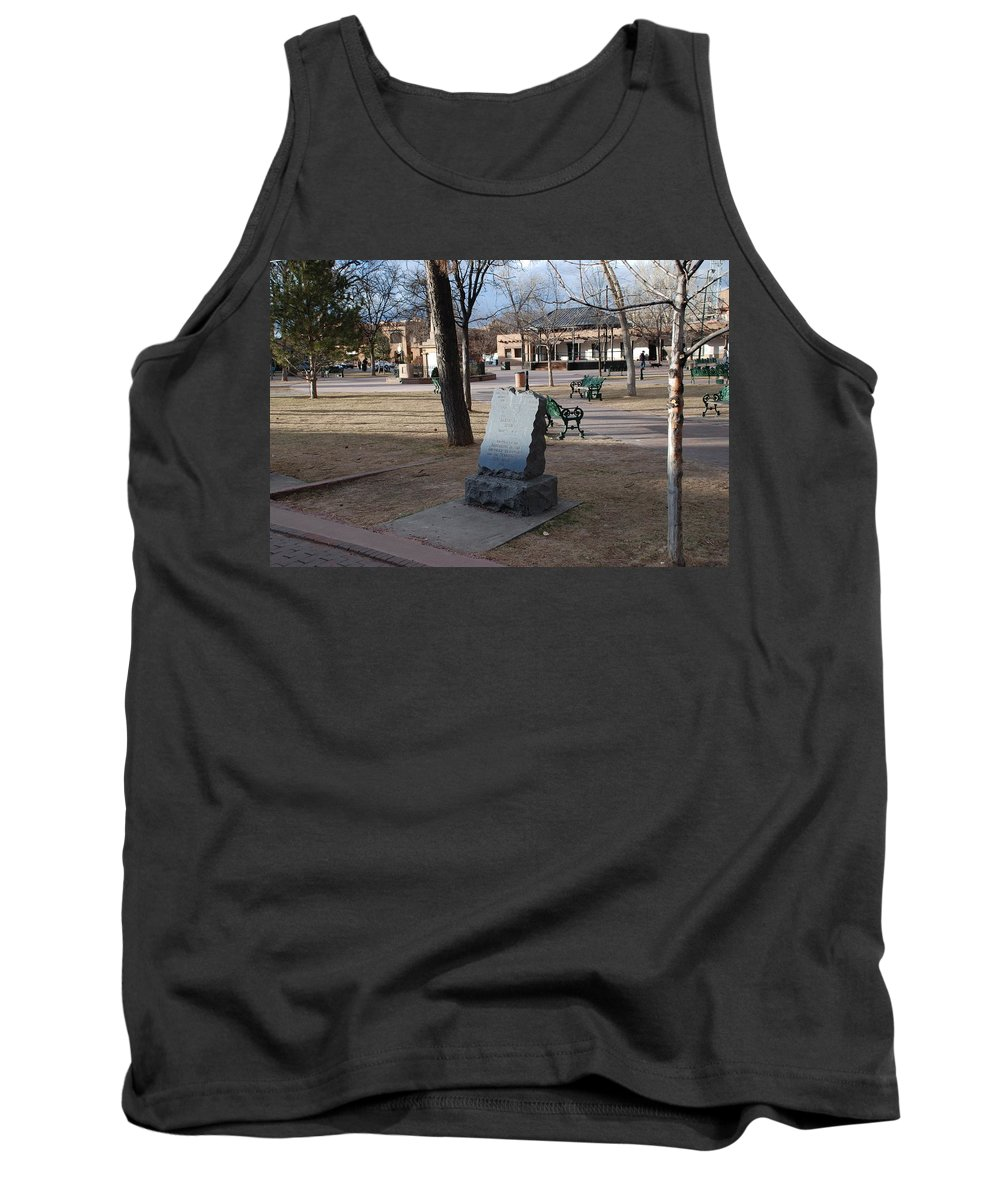 Parks Tank Top featuring the photograph Santa Fe Trail Marker by Rob Hans