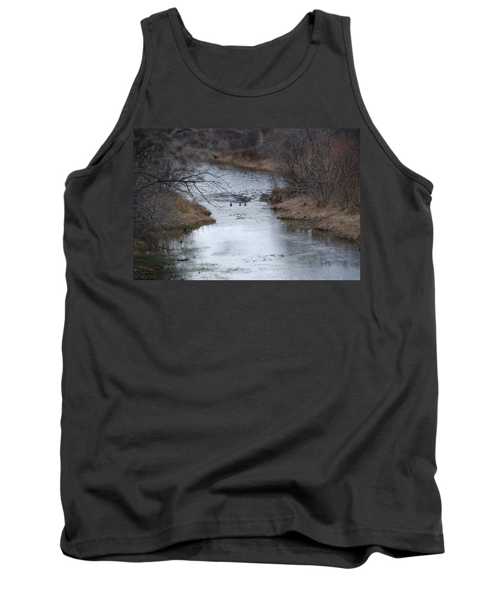 Birds Tank Top featuring the photograph Sante Fe River by Rob Hans