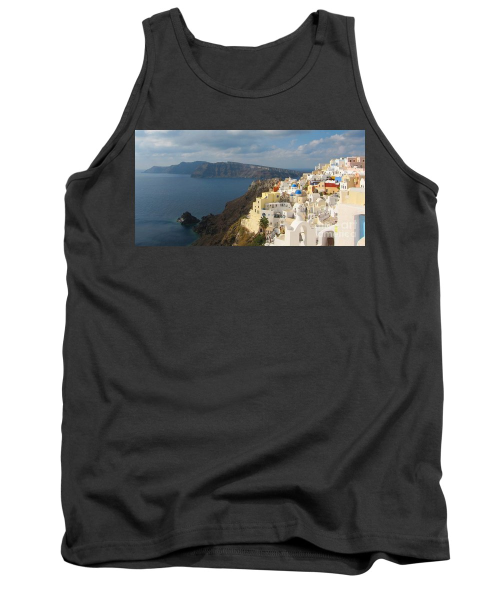 Santorini Tank Top featuring the photograph Santorini In The Afternoon Sun by Four Stock