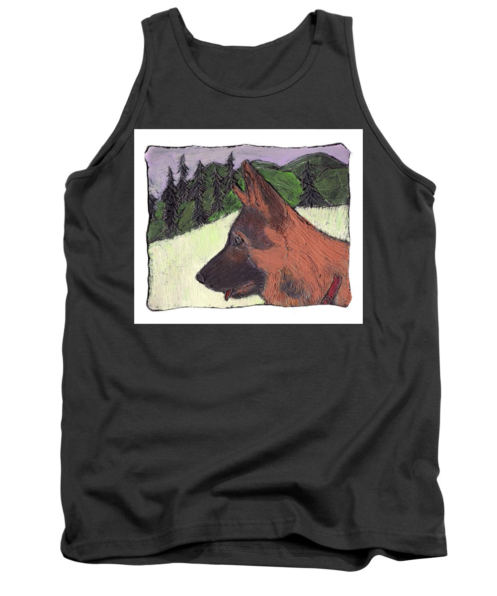 Dog Tank Top featuring the painting Sarge by Wayne Potrafka