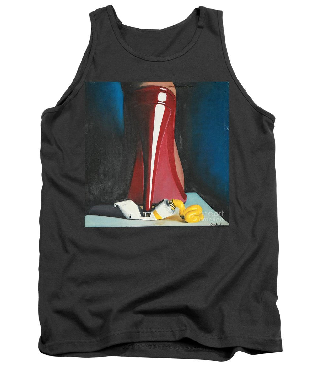 Sassy Shoe Tank Top featuring the painting Sassy Shoe by Jacqueline Athmann