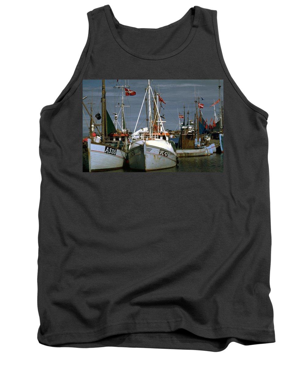 Scandinavian Tank Top featuring the photograph Scandinavian Fisher Boats by Flavia Westerwelle