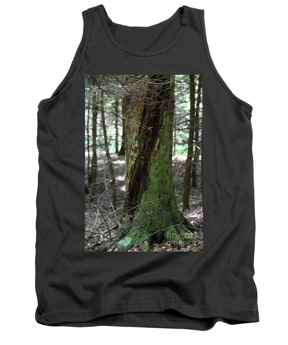 Tree Tank Top featuring the photograph Scarred by Amanda Barcon