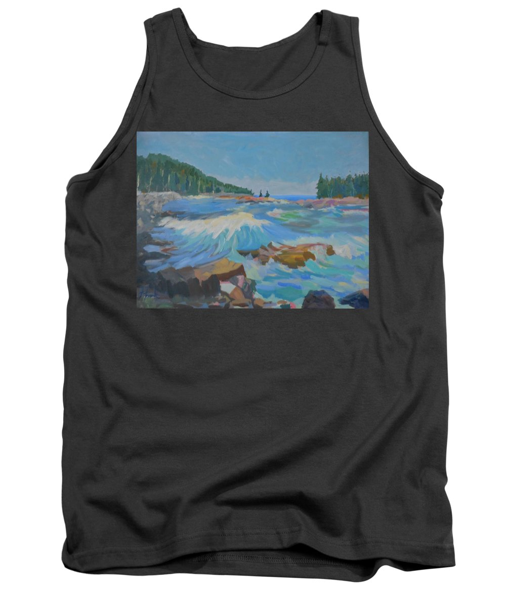 Landscape Tank Top featuring the painting Schoodic Inlet by Francine Frank