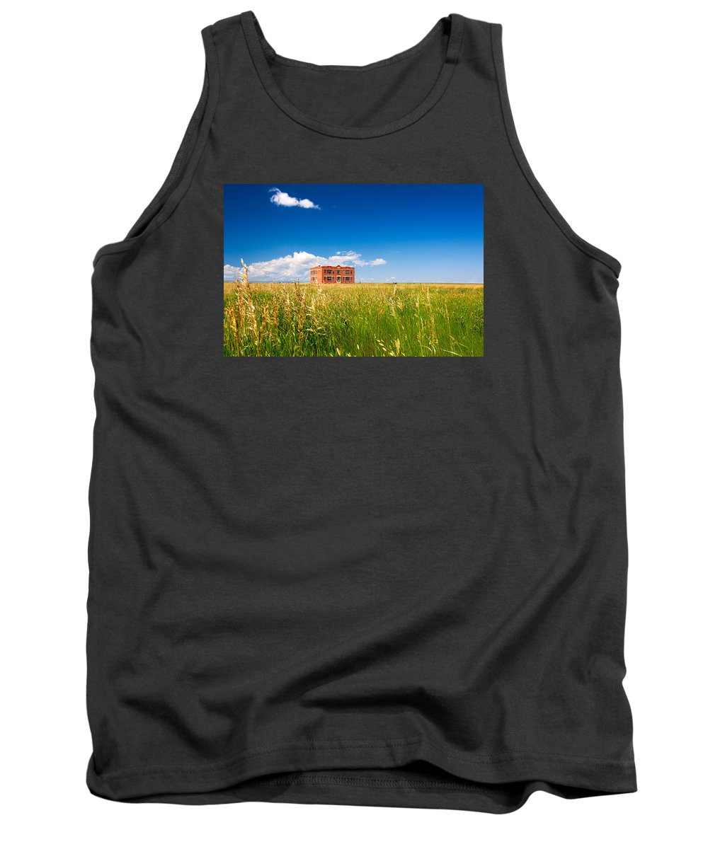 Old Tank Top featuring the photograph School Abandoned by Todd Klassy