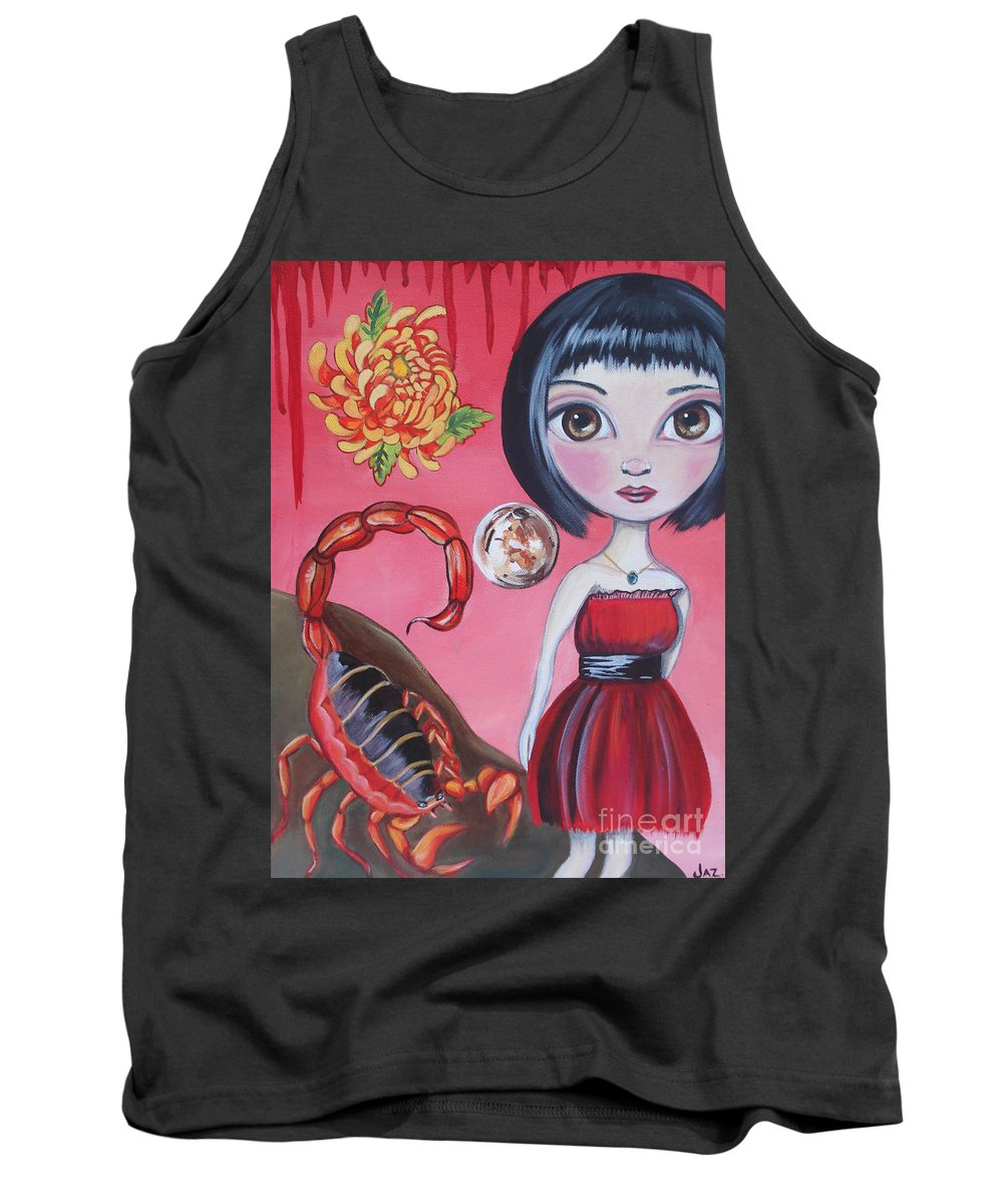 Scorpion Tank Top featuring the painting Scorpio by Jaz Higgins