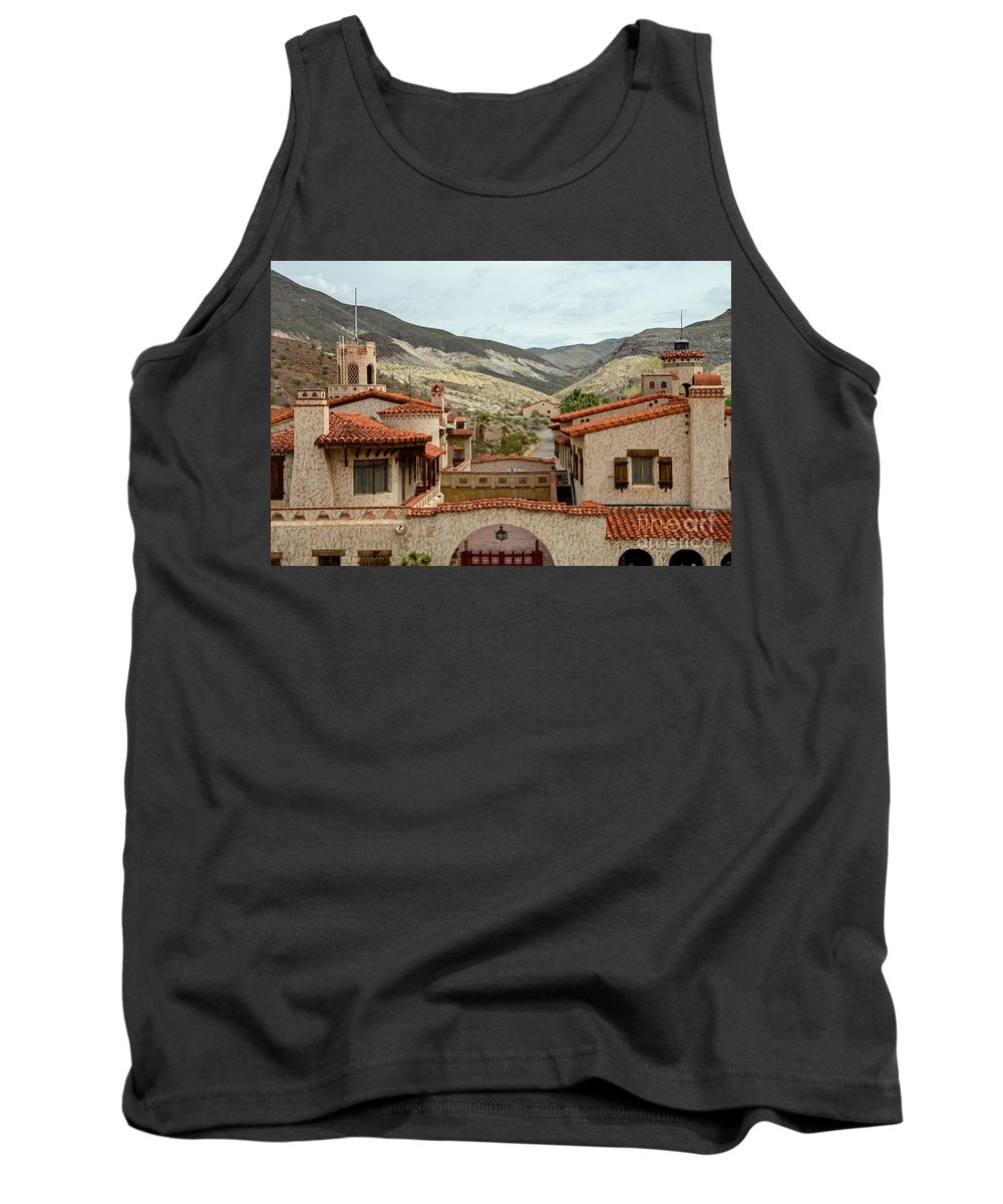Scotty's Castle Tank Top featuring the photograph Scotty's Castle by Stephen Whalen