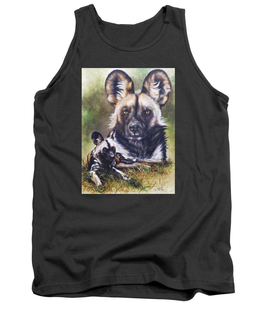 Wild Dogs Tank Top featuring the mixed media Scoundrel by Barbara Keith