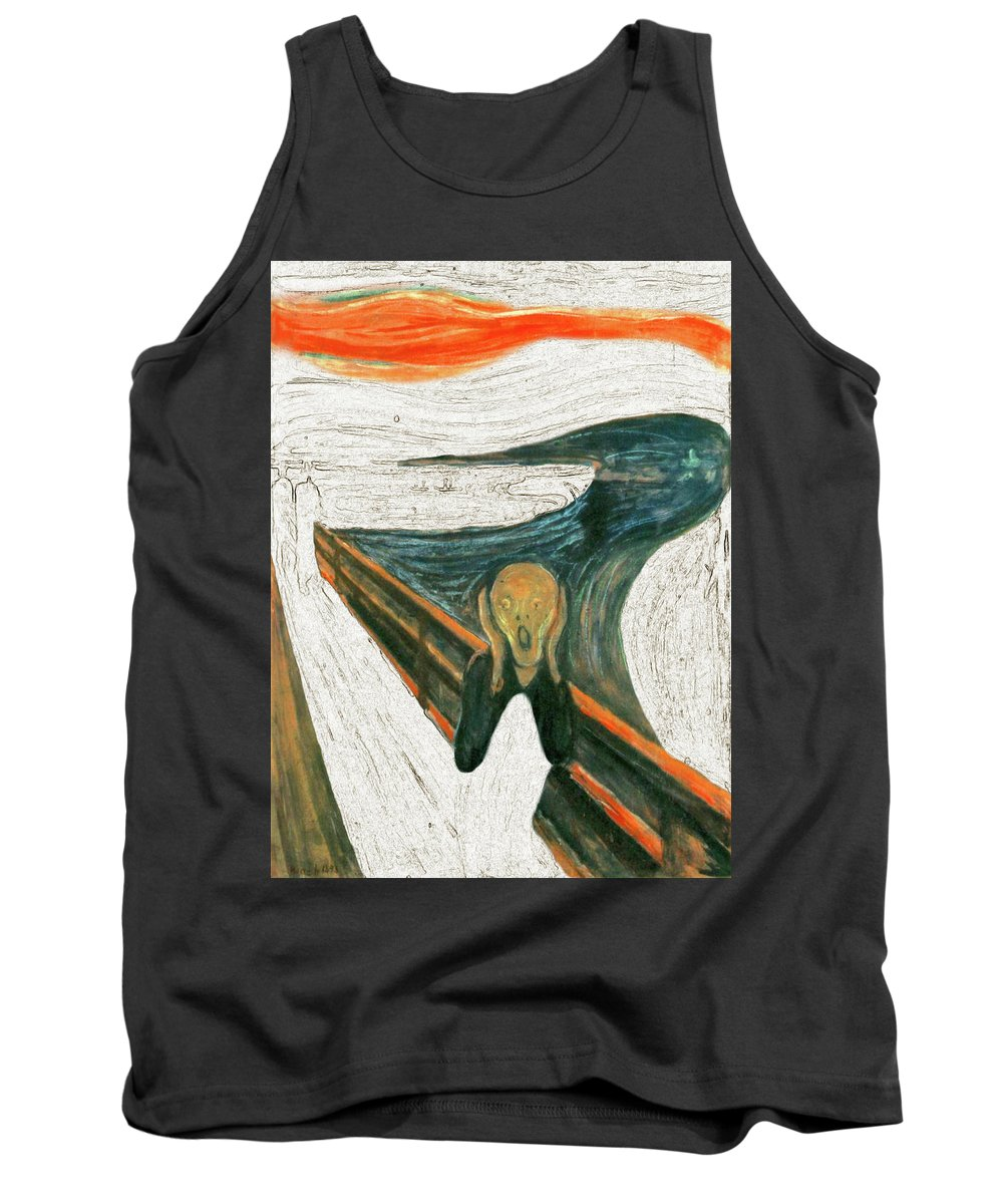 Scream Tank Top featuring the painting Scream A Bunch Digital by Karla Beatty