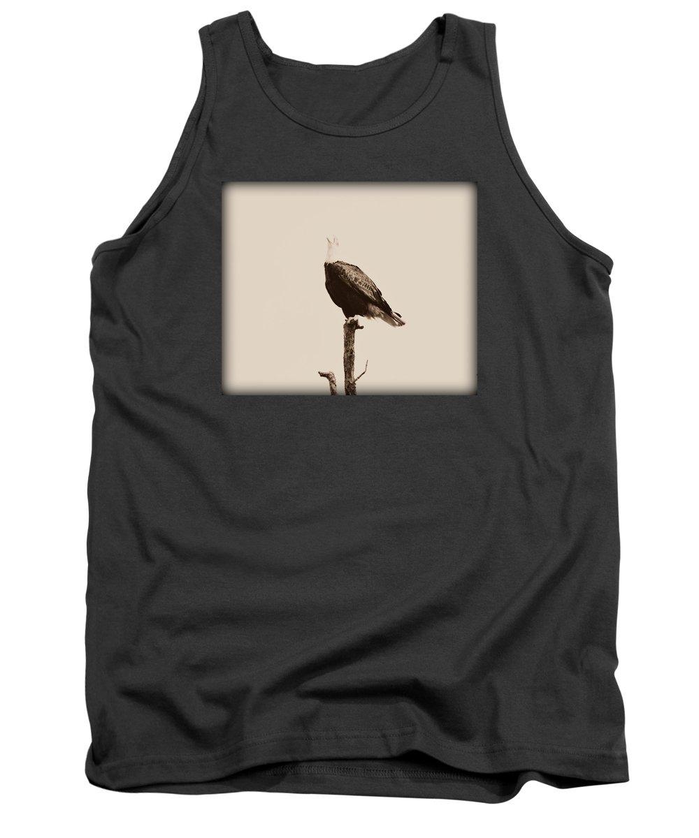Bird Tank Top featuring the photograph Screaming Eagle by Darin Bokeno