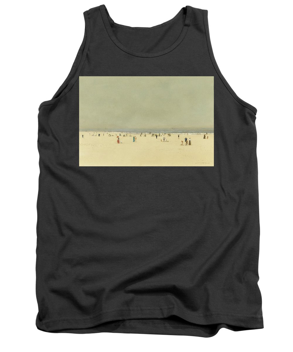 John Atkinson Grimshaw 1836-1893 Sand Tank Top featuring the painting Sea And Sky by MotionAge Designs
