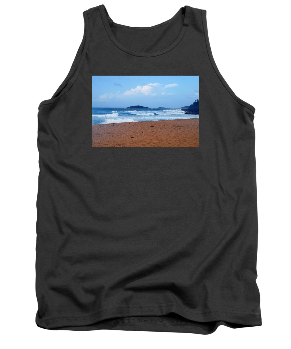 Tank Top featuring the photograph Sea Meets Beach by Ronald Hilbig