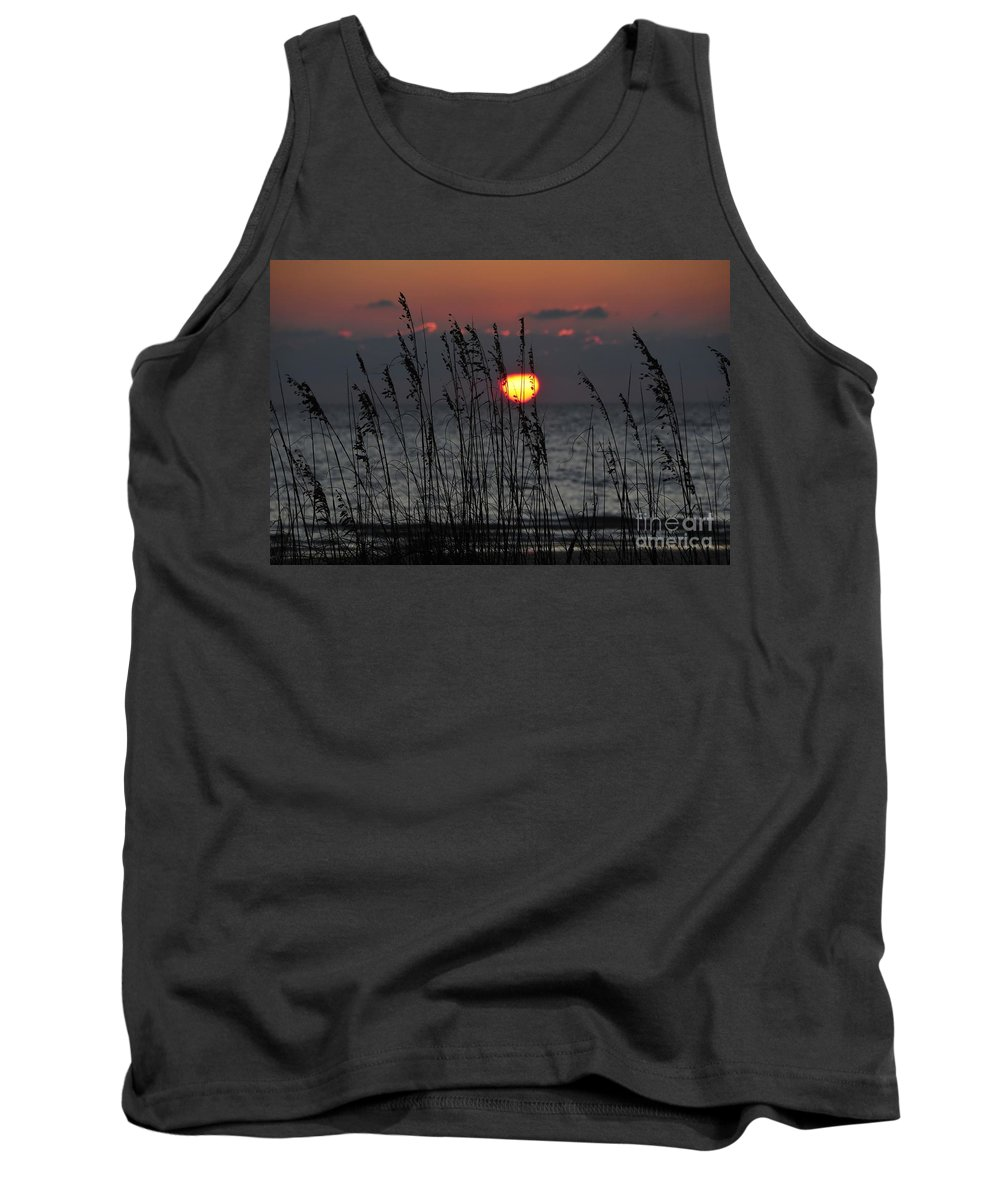 Sea Oats Tank Top featuring the photograph Sea Oats by David Lee Thompson