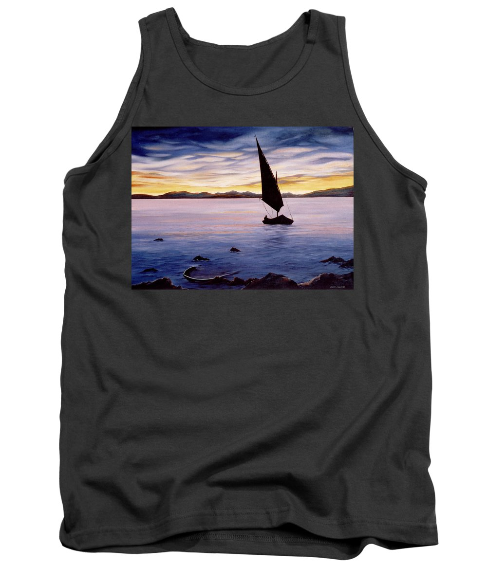 Seascape Tank Top featuring the painting Sea Of Souls by Mark Cawood