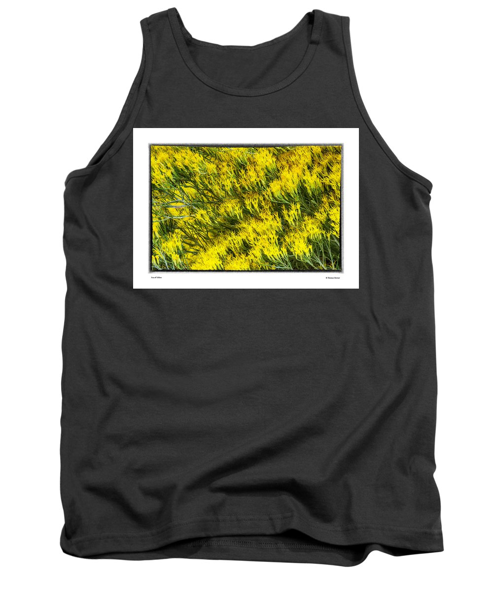 Tank Top featuring the photograph Sea Of Yellow by R Thomas Berner