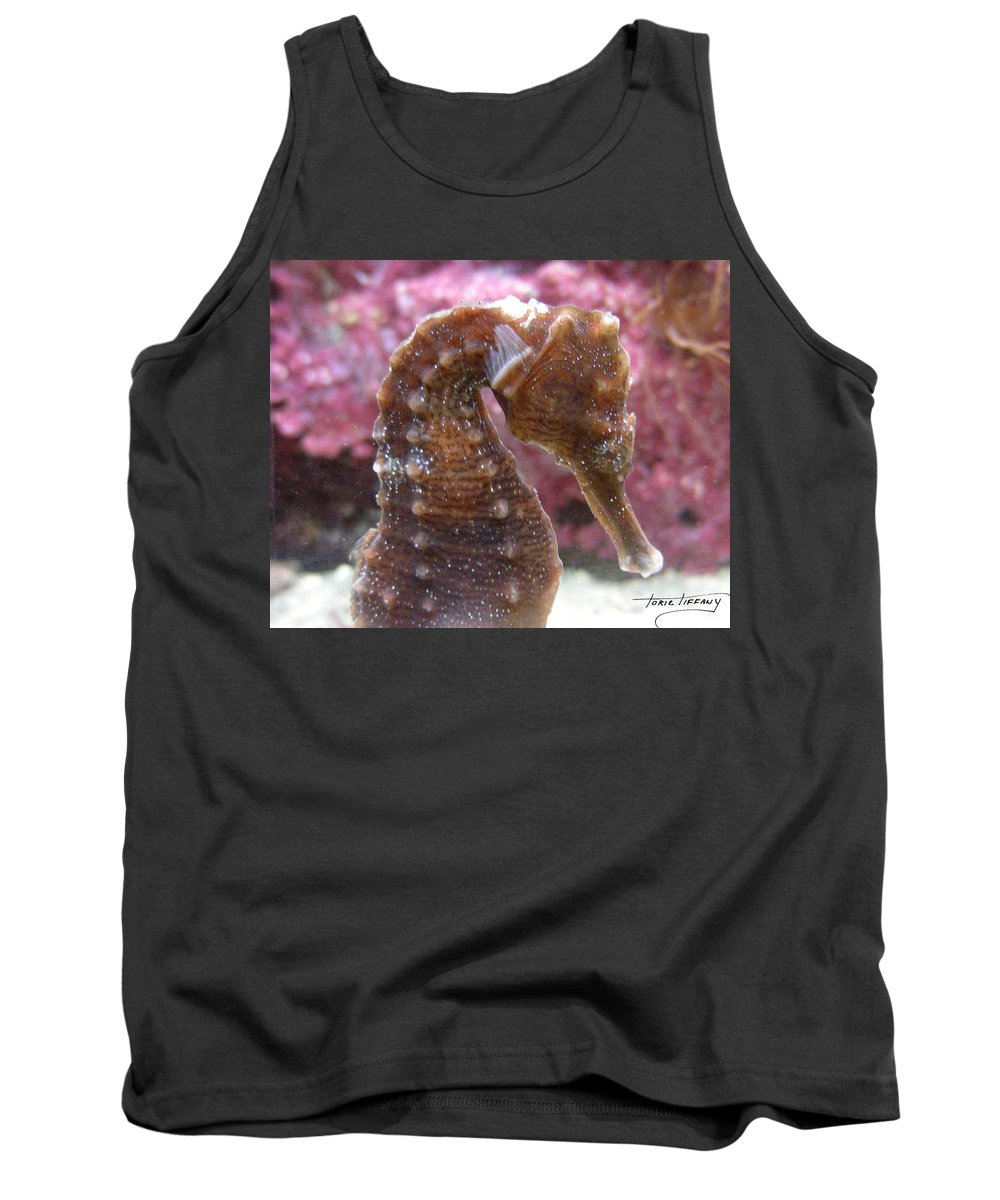 Faunagraphs Tank Top featuring the photograph Seahorse2 by Torie Tiffany